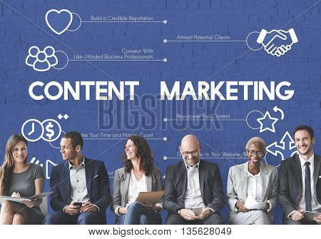 Content Marketing Advertising Business Concept