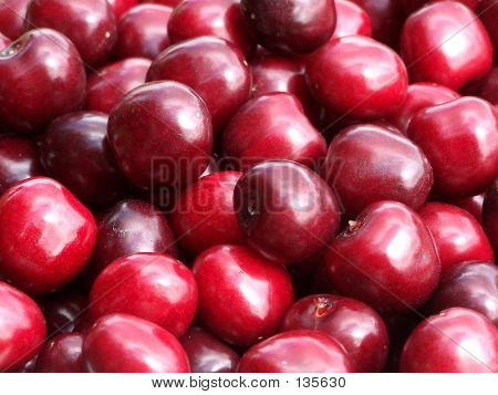 Closeup Of Cherries