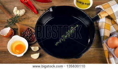 Ingredients For A Breakfast And Skillet.