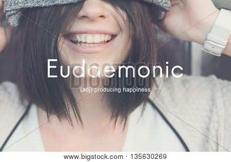 Eu daemonic Happiness Enjoyment Cheerful Carefree Concept