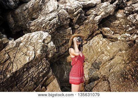 Beach Camera Explore Photograph Woman Girl Concept