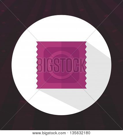 Flat color condom icon safe sex health vector illustration
