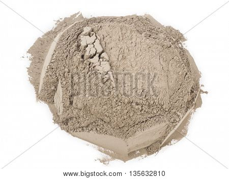Gray cement powder
