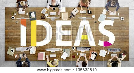 Business Ideas Knowledge Meeting Forum Concept