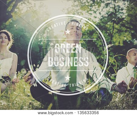 Green Business Earth Ecology Environment Concept