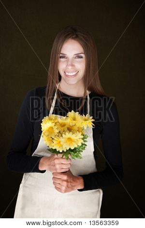 Young Florist With Daisies