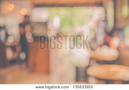 Restaurant Or Coffee Shop Blur Background .