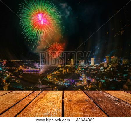 Firework Blast At 1St Of January Celebration In Chiang Mai Thailand.