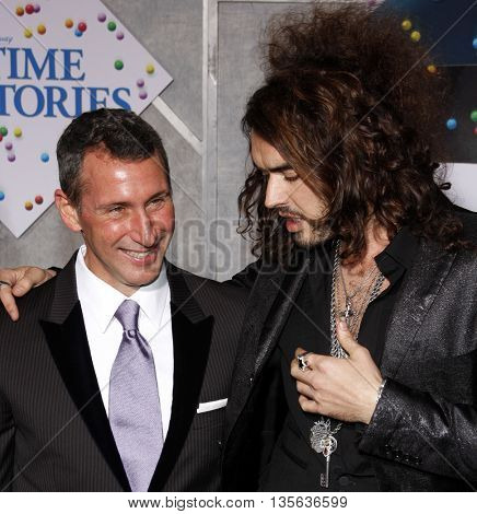 Adam Shankman and Russell Brand at the Los Angeles premiere of 'Bedtime Stories' held at the El Capitan Theater in Hollywood, USA on December 18, 2008.