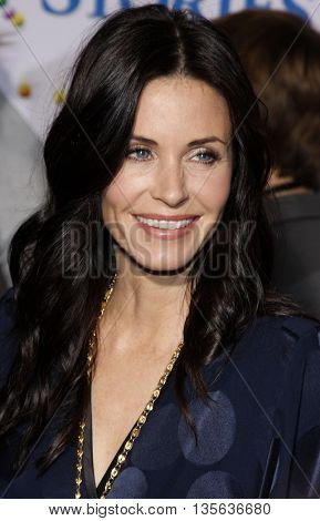 Courteney Cox at the Los Angeles premiere of 'Bedtime Stories' held at the El Capitan Theater in Hollywood, USA on December 18, 2008.