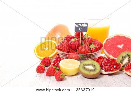 assorted vitamin C food