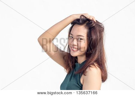 Sexy Thai Lady Face With Long Hair