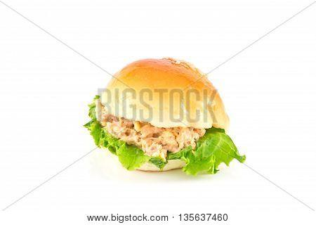 Fresh burger with tuna, food, breakfast burger