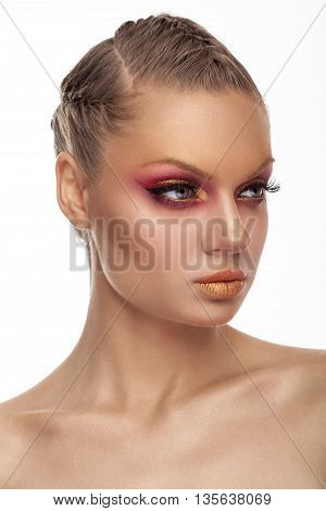 Professional Red And Gold Make Up