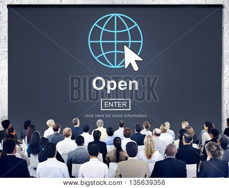 Open Opening Homepage Website Browsing Concept