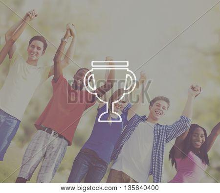 Trophy Reward Prize VIctory Success Achievement Concept