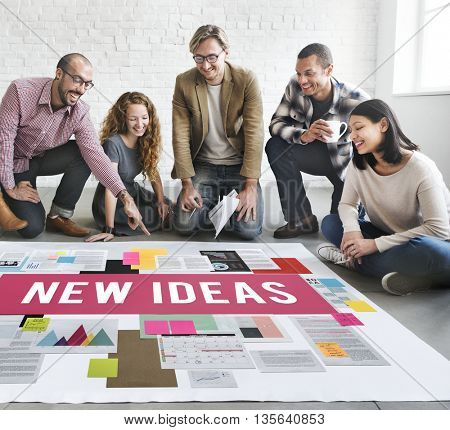 New Ideas Design Objective Proposition Vision Concept