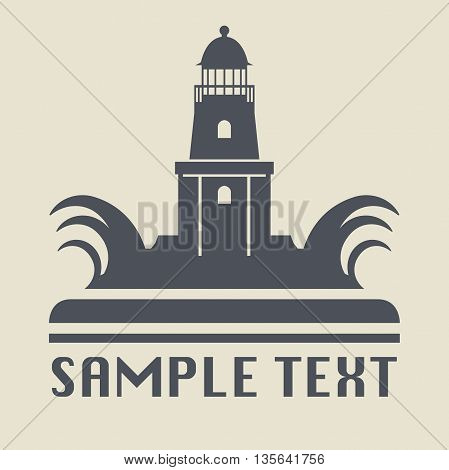 Abstract Lighthouse icon or sign vector illustration