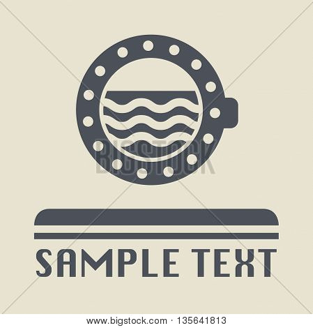 Abstract Ship porthole icon or sign, vector illustration