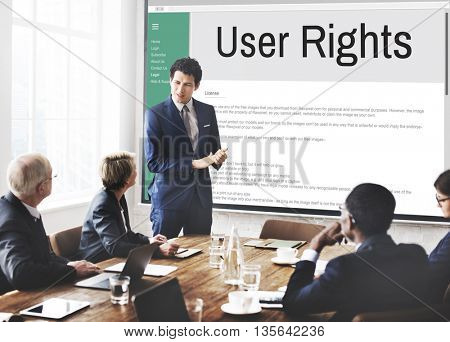 Users Rights Terms and Conditions Rule Policy Regulation Concept