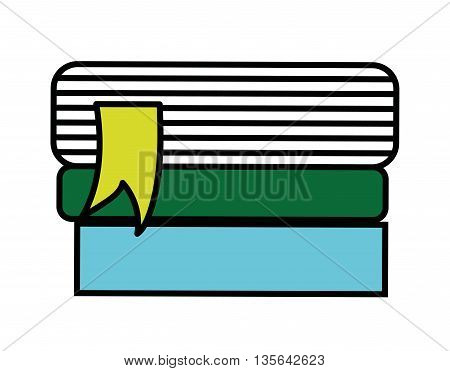text books isolated icon design, vector illustration  graphic