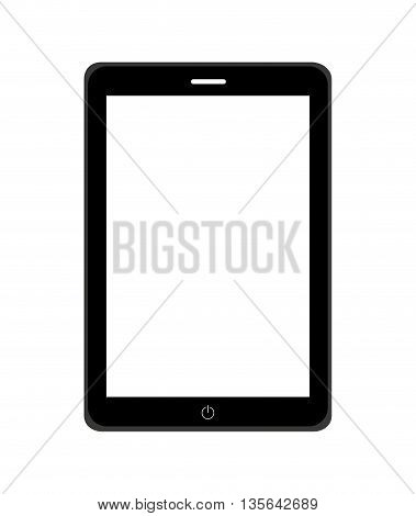 electronic book in tablet isolated icon design, vector illustration graphic