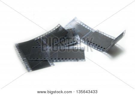 film 35mm for SLR camara on white background