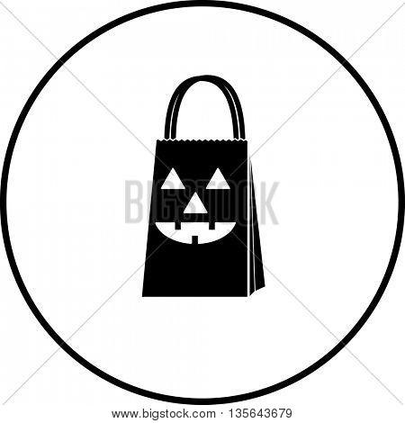 jack o' lantern bag symbol