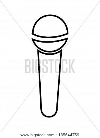 microphone isolated icon design, vector illustration  graphic