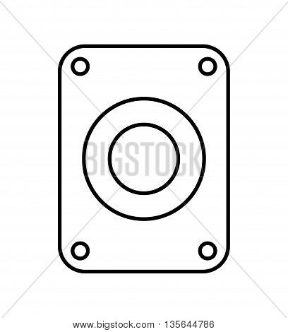hard disk drive isolated icon design, vector illustration  graphic
