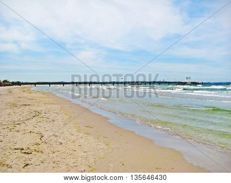 Pier Of Scharbeutz, Baltic Sea, Germany