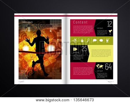 Magazine Colorful Layout Vector