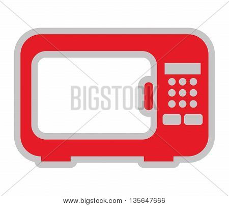 oven microwave isolated icon design, vector illustration  graphic