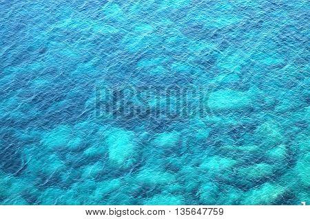 Beautiful Blue Sea Background