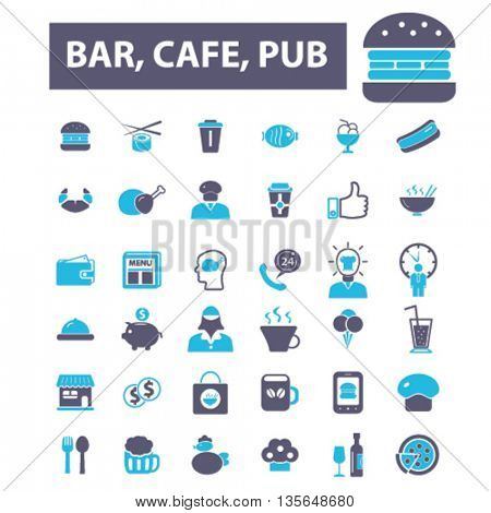 bar, cafe, pub icons