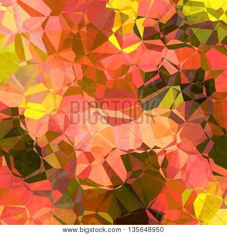 Abstract bright orange background with polygon pattern