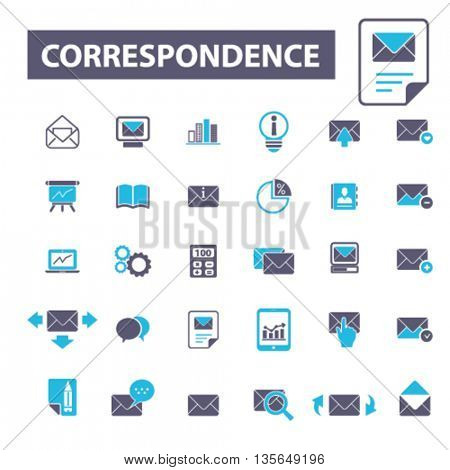 correspondence icons