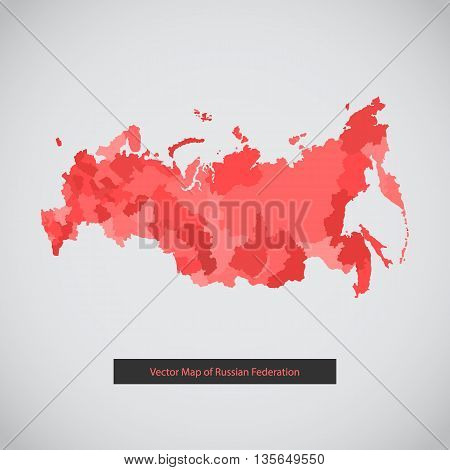 Vector background illustration of Russian federation for ui, web games, tablets, wallpapers, and patterns.