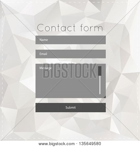 Vector template with white polygonal background. For ui, web games, tablets, wallpapers, and patterns