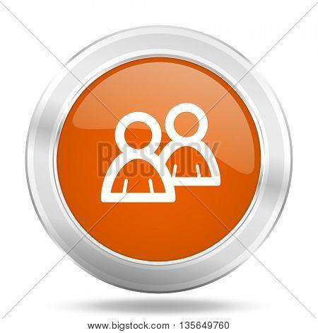 forum vector icon, metallic design internet button, web and mobile app illustration