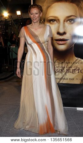 Tilda Swinton at the Los Angeles premiere of 'The Curious Case of Benjamin Button' held at the Mann Village Theater in Westwood, USA on December 8, 2008.