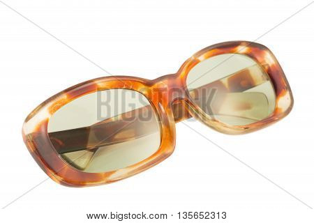 Women sun glasses isolated on white background