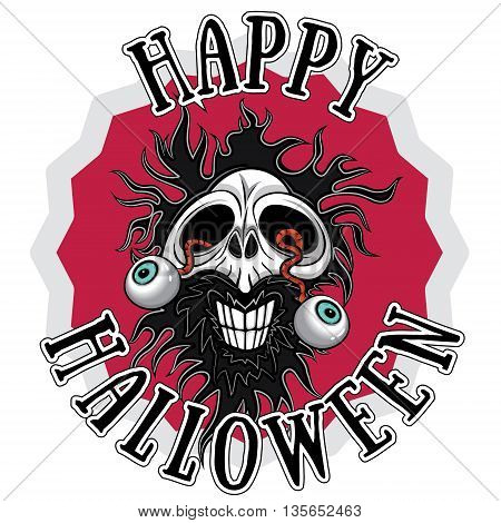 scary horror human smiling skull Halloween design