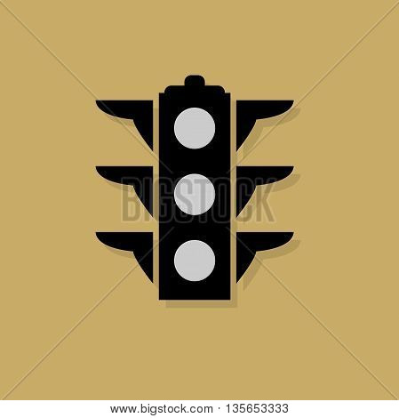 Abstract Signal lights icon or sign, vector illustration