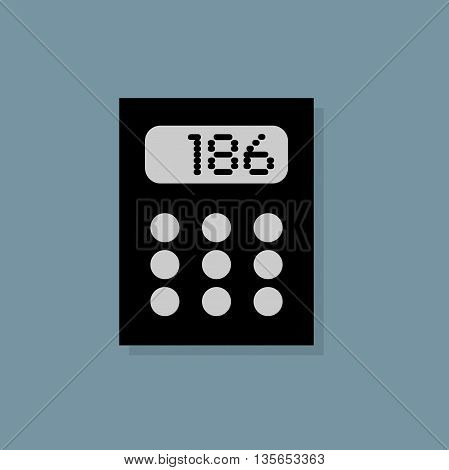 Abstract Calculator icon or sign, vector illustration