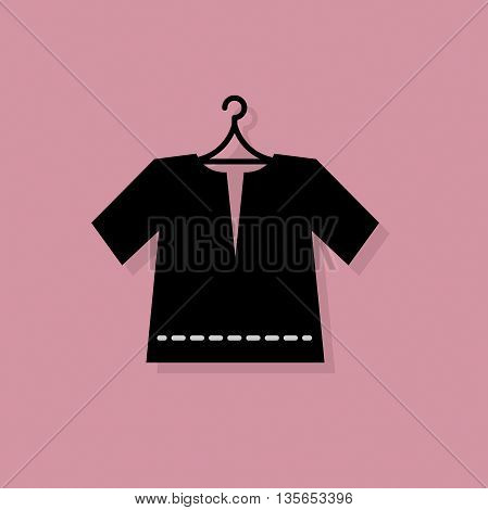 Abstract Clothes icon or sign, vector illustration