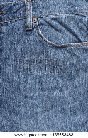 blue jeans pocket, photo shot of denim texture