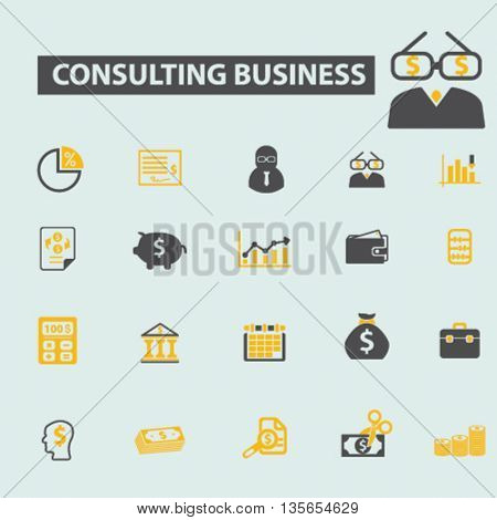 consulting business icons