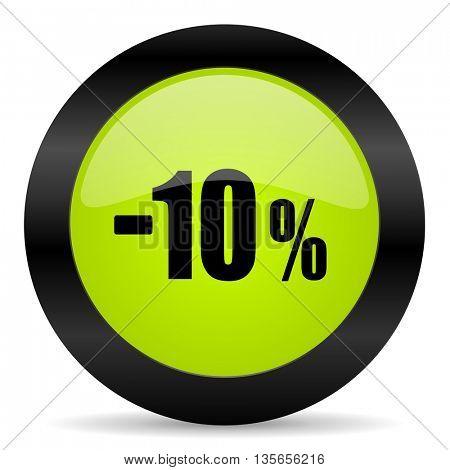 10 percent sale retail icon