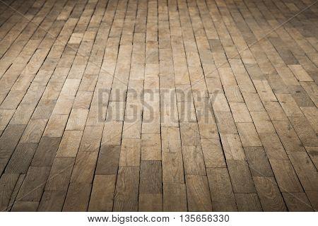 Old Brown Wooden Parquet. Background Photo
